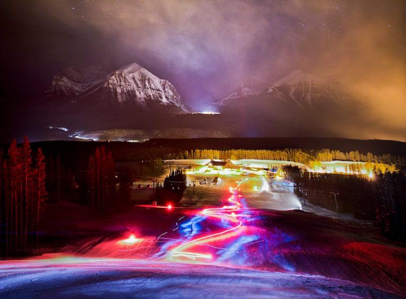 Torchlight Dinner at Lake Louise Ski Resort, Banff National Park.