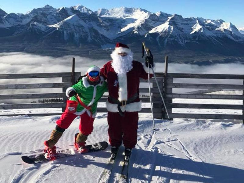 Christmas Cheer With Santa at Lake Louise Ski Resort