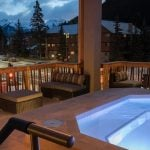 Outdoor Hot Pools with Rocky Mountain Views