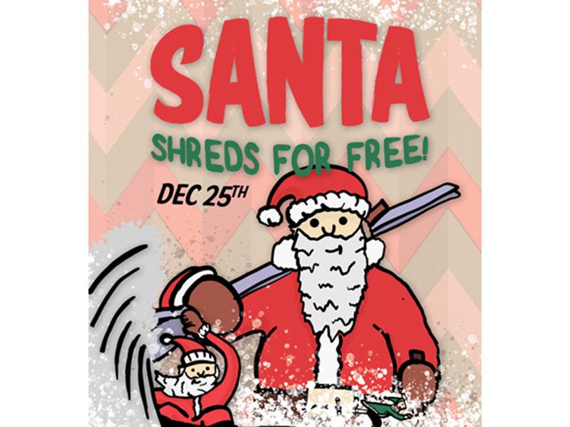 Santa Shredz for free at Mt. Norquay