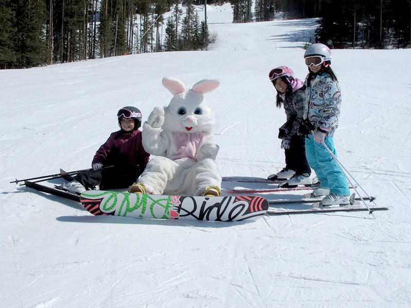 Easter Bunny at Banff Sunshine Village in Banff National Park.