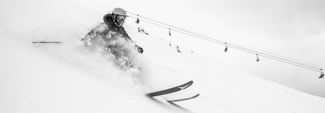 Powder day at Lake Louise Ski Resort, Banff National Park.