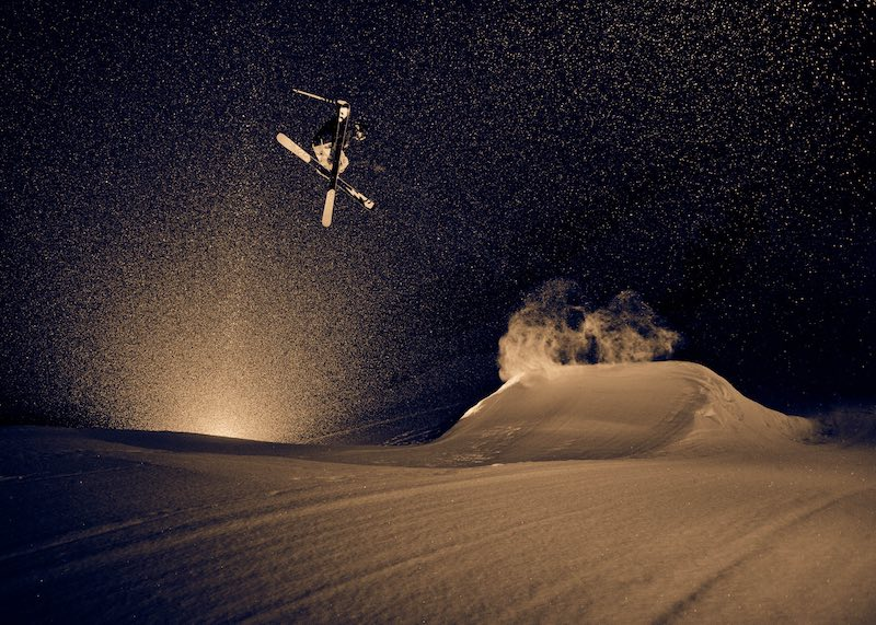 A shot in Norquay's terrain park from Reuben Krabbe's early years of photography.
