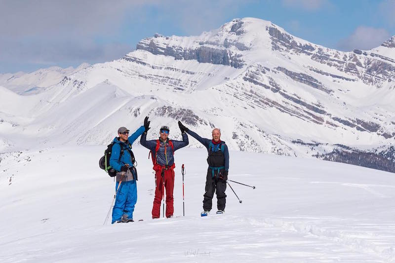 Lake Louise backcountry with SkiBig3 Ambassadors Shannon Martin and Dan Thomson.