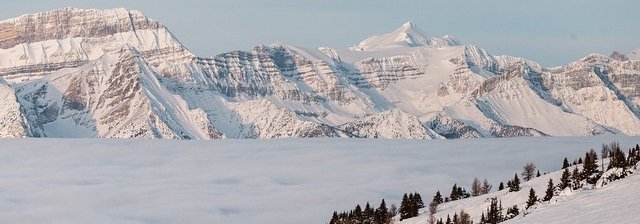 Inversion at Lake Louise Ski Resort. Photo by Shannon Martin.