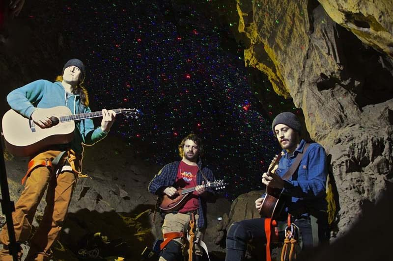 Elk Run & Riot perform at Canmore Cave Tours.