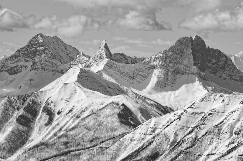 Seas of mountain vistas, as seen from Banff Sunshine Village. Photo by Liam Doran.