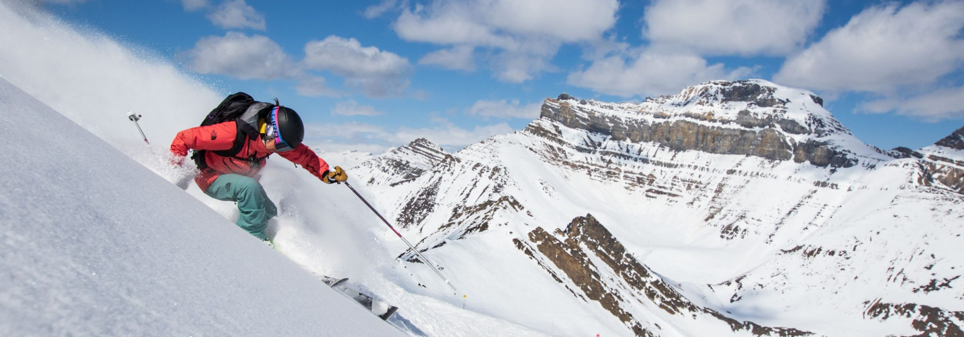 Ingrid Backstrom skiing at Lake Louise Ski Resort, Banff National Park. Photo by Liam Doran.