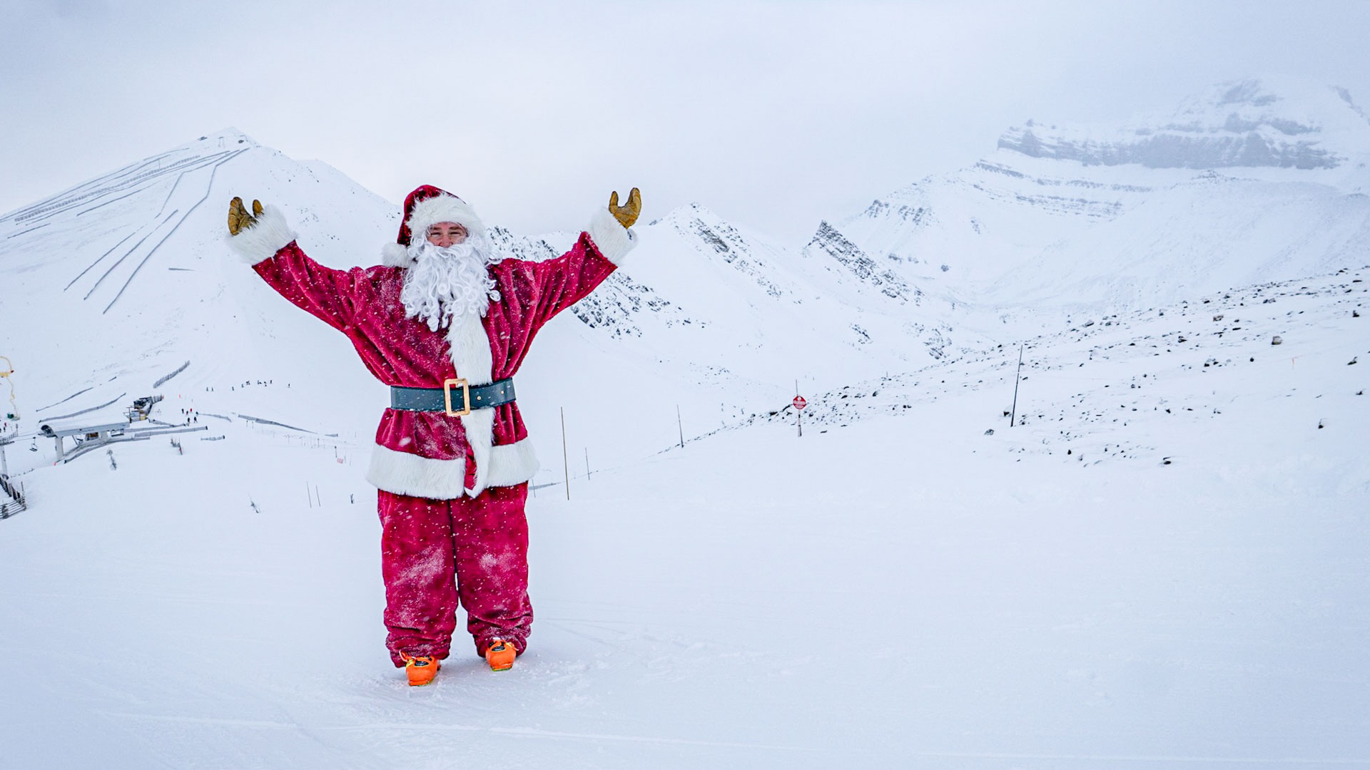 Santa at Lake Louise Ski Resort.
