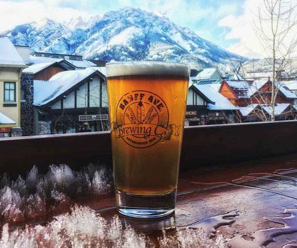 Pint Beer at Banff Brewing Company in Banff, Banff National Park