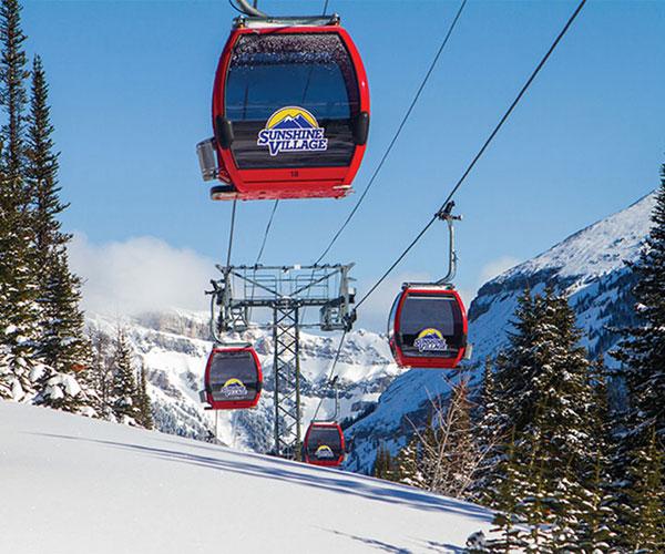 Sightseeing at Banff Sunshine Ski Resort in the Canadian Rockies