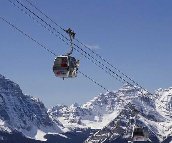 Sightseeing at Lake Louise Ski Resort in the Canadian Rockies