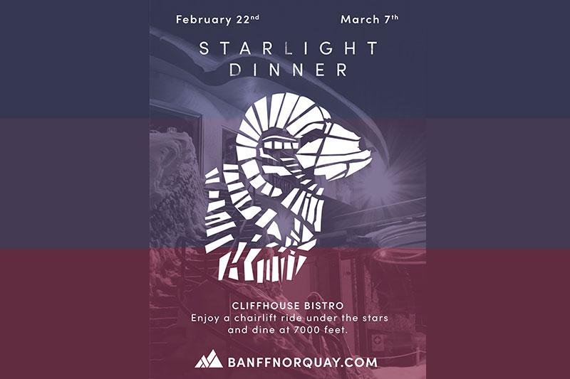 Starlight Dinner at Mt Norquay
