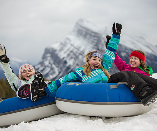 Tubing at Mt. Norquay, Banff National Park.