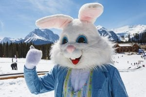 Catch the Easter Bunny at Lake Louise Ski Resort
