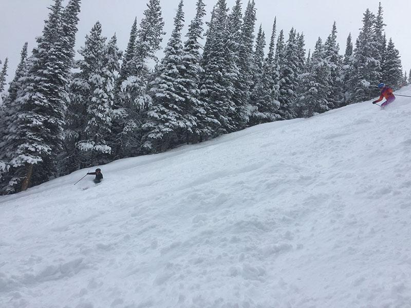 skiing on meadowlark lake louise ski resort