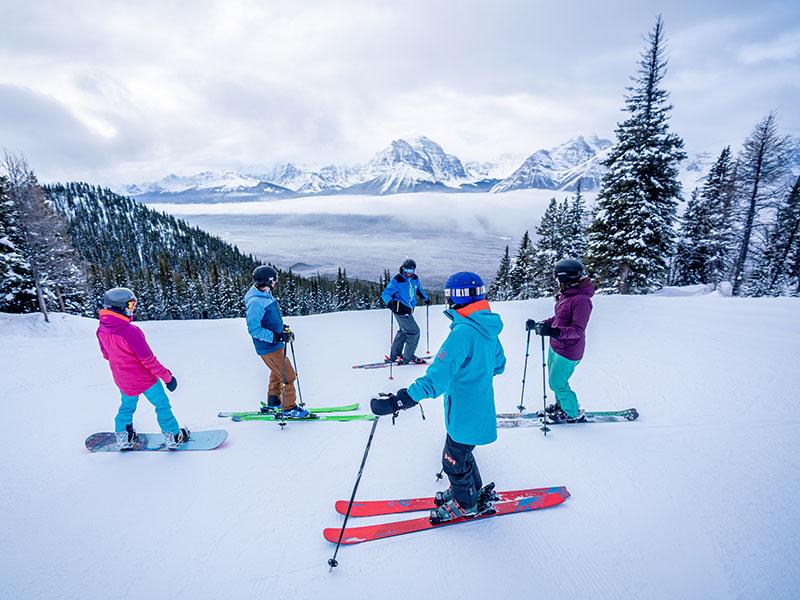 SkiBig3 Guided Adventures at Lake Louise Ski Resort in Banff National Park.