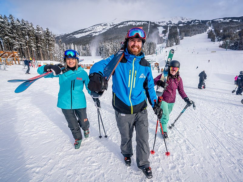 SkiBig3 Guided Adventures at Lake Louise Ski Resort in Banff National Park.