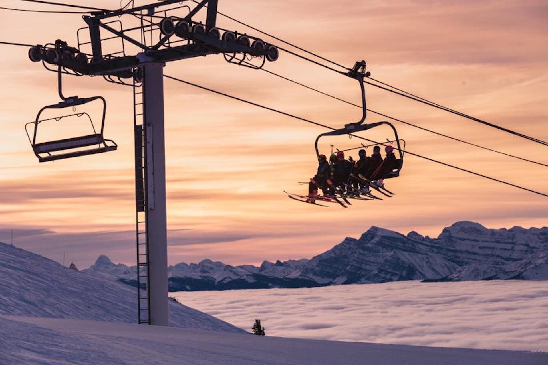 Chairlift at Lake Louise Ski Resort.