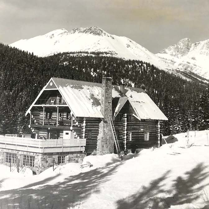 The original Temple Lodge. Photo courtesy of Lake Louise Ski Resort.