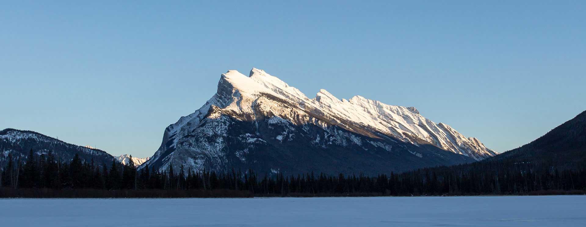 Mt. Rundle in Banff, Banff National Park.