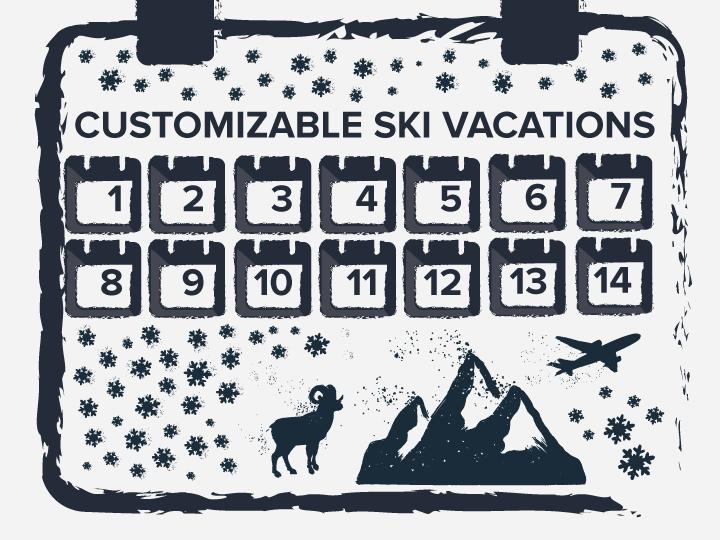 Flexible customizable ski vacations