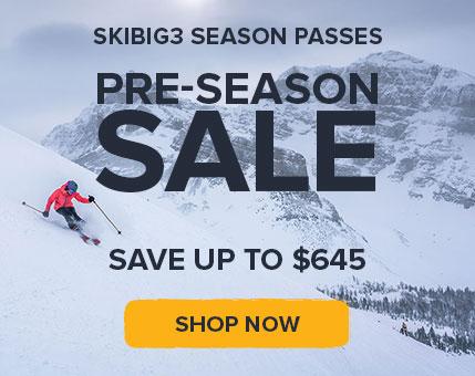 SkiBig3 Pre-Season Sale
