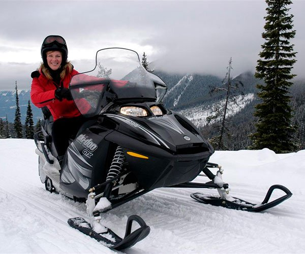 Snowmobiling in the Canadian Rockies, Banff National Park