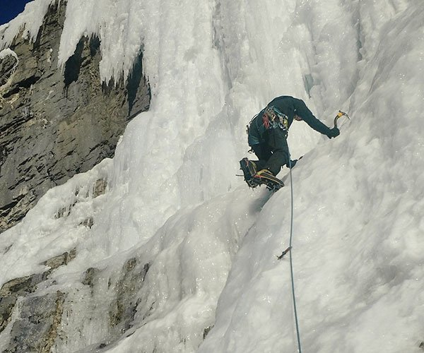 Ice Climbing in the Canadian Rockies.