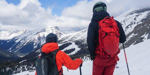 |||Skier at Mt. Norquay