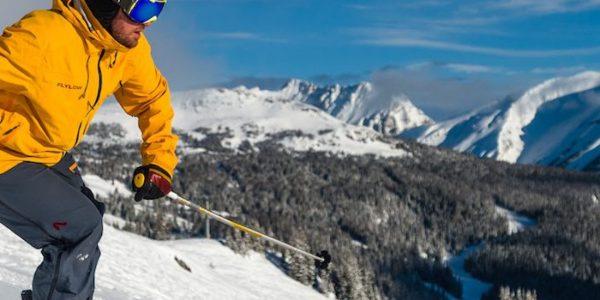 Skier at Sunshine Village in Banff National Park.|Skier at Banff Sunshine Village